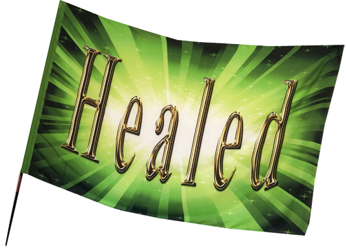 Healed Green Worship Flag