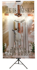 Resurrection Day He is Risen Wall Banner