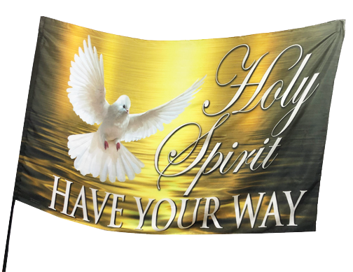 Holy Spirit Have Your Way Worship Flag