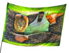 Holy, Holy, Holy Man-Eagle-Lion-Ox Worship Flag
