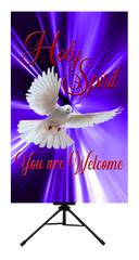Holy Spirit You Are Welcome Wall Banner
