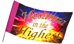 Hosanna in the Highest Worship Flag