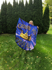 Crown Him Lord of All (blue) Wing Flag Set