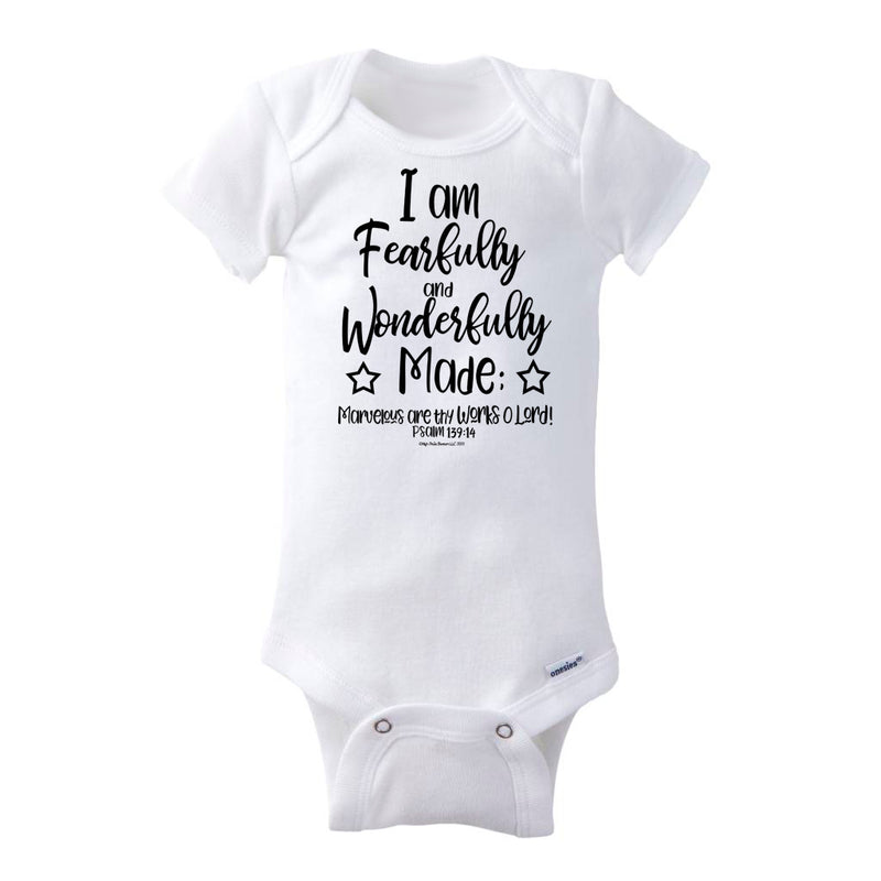 I Am Fearfully and Wonderfully Made Baby Onesie