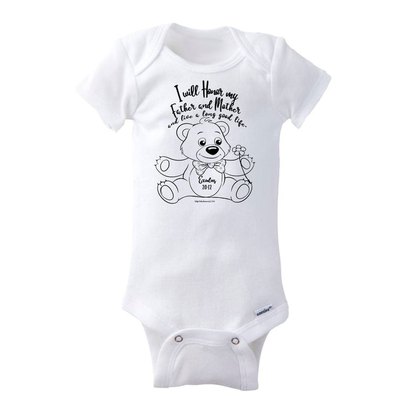 I Will Honor My Father and Mother Baby Onesie