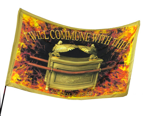 Ark of Covenant-I Will Commune With Thee Worship Flag
