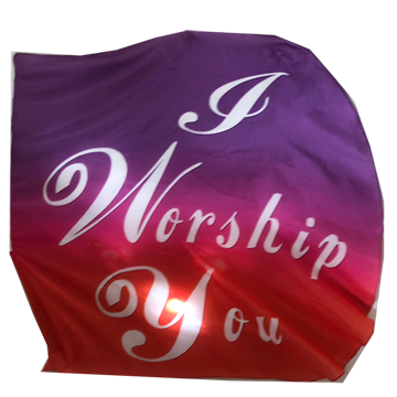 I Worship You Wing Flag Set