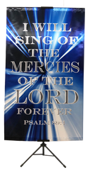I Will Sing of the Mercies of the Lord Vertical Banner