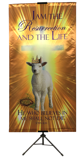 Resurrection Day - I Am the Resurrection and the Life Wall Banner