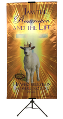EASTER Resurrection Day - I Am the Resurrection and the Life Vertical Banner