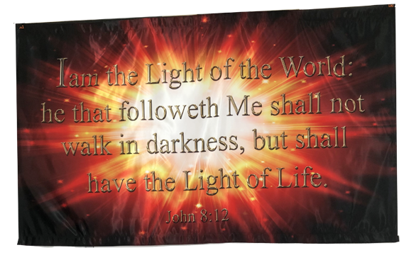 I Am the Light of the World Horizontal Wall Banner