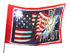 In God We Trust Worship Flag