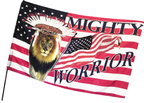 Indian Mighty Warrior Worship Flag