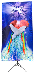 I Will Pour Out My Spirit Vertical Banner