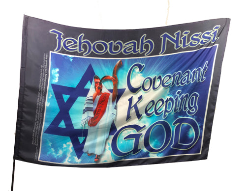Jehovah Nissi Covenant Keeping God Worship Flag