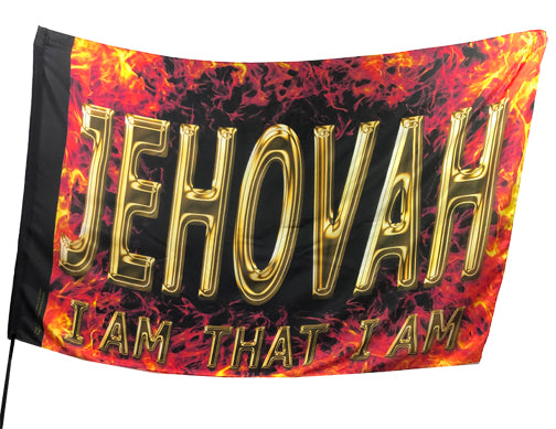 Jehovah Fire Worship Flag