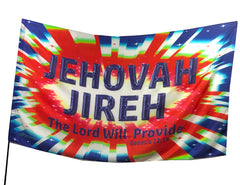 Jehovah Jireh (blue-red) Worship Flag