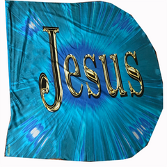 Jesus/King of Glory (Aqua) Wing Flag Set