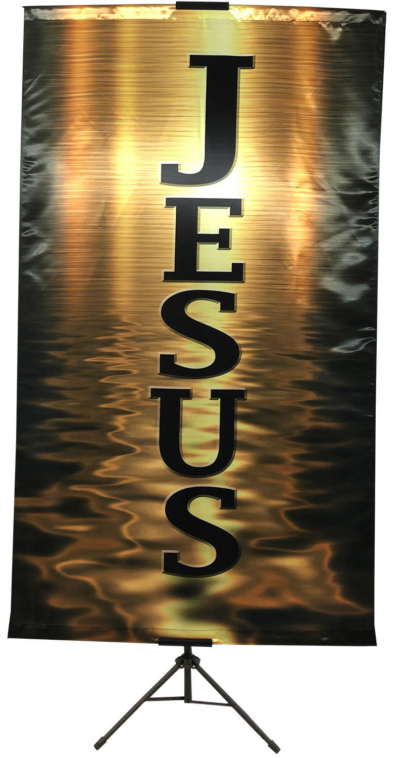 Jesus Gold Wall Banner