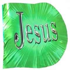 Jesus/King of Glory (green) Wing Flag Set