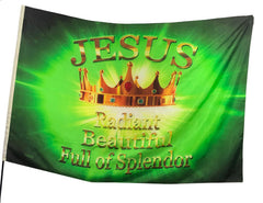 Jesus Radiant Beautiful Worship Flag