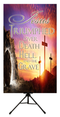 Easter Resurrection Day - Jesus Triumphed Over Death Vertical Banner