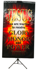 Jesus You Are Worthy to Receive Wall Banner
