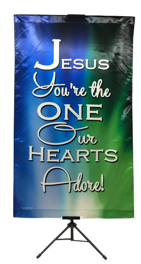 Jesus You're the One Our Hearts Adore Wall Banner