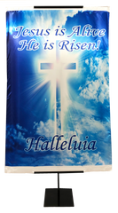 Resurrection Day - Jesus is Alive He is Risen Vertical Banner