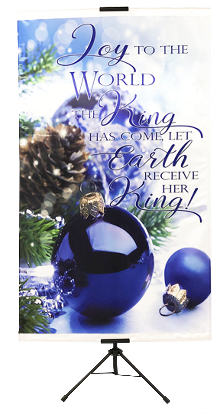 CHRISTMAS- Joy to the World The King Has Come Wall Banner