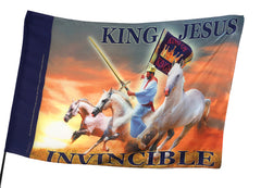 King Jesus Invincible Worship Flag