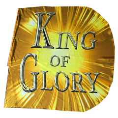 Jesus/King of Glory (gold) Wing Flag Set