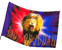 Lion of Judah Red/Blue Worship Flag