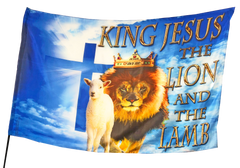 King Jesus the Lion and The Lamb Worship Flag