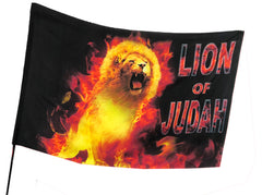 Lion of Judah Fire Worship Flag