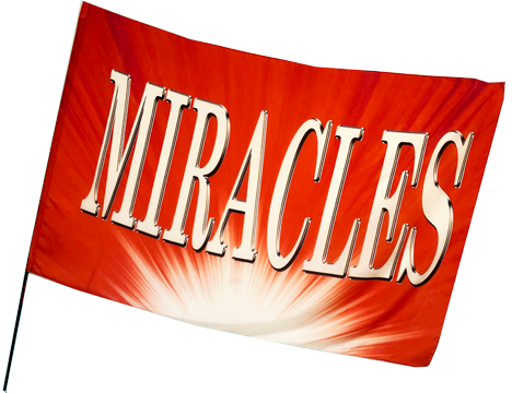 Miracles Red Worship Flag