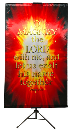 O Magnify The Lord Burst Wall Banner