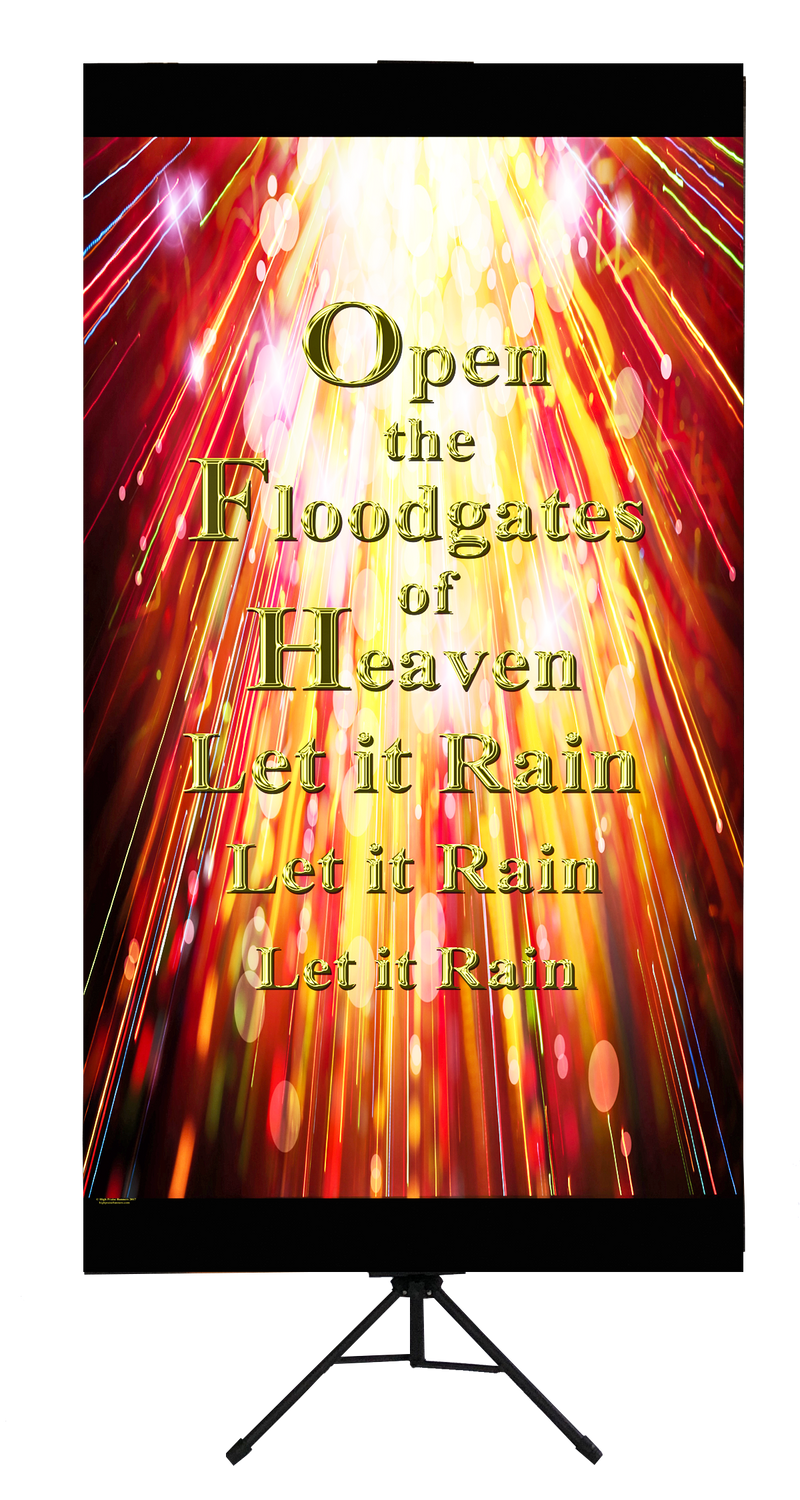 Open the Floodgates Wall Banner