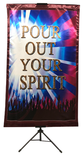 Pour Out Your Spirit Vertical Banner