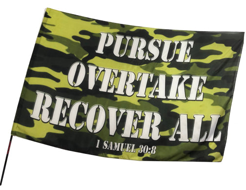 Camouflage Collection  Pursue Overtake Recover All Worship Flag