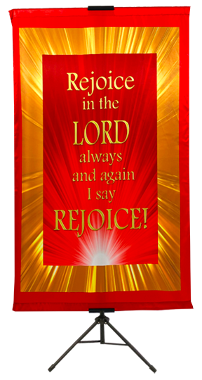 Rejoice in the Lord Wall Banner