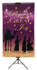 CHRISTMAS- Rejoice with Great Joy (Wisemen) Wall Banner