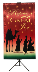 CHRISTMAS- Rejoice with Great Joy (Wisemen) Vertical Banner