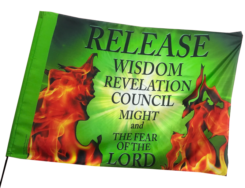 Release Wisdom Revelation Council /Green Worship Flag