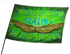 Rising with Healing Worship Flag
