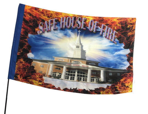 Safe House of Fire Worship Flag