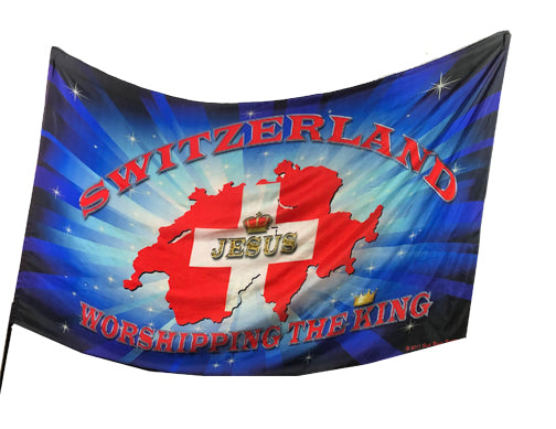 Switzerland Worshipping the King Worship Flag