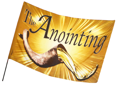 Anointing Shofar-Oil Worship Flag