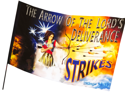 The Arrow of the Lord's Deliverance Worship Flag