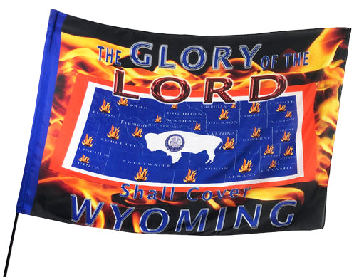 Glory of the Lord Covers Wyoming Worship Flag